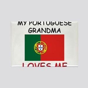 My Portuguese Grandma Loves Me Rectangle Magnet